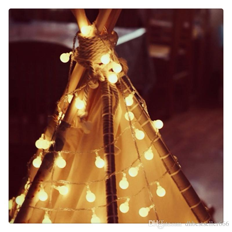Warm White Ball Fairy Lights Waterproof Decorative Starry Lights LED String Lights for Bedroom Patio Parties Battery Powered