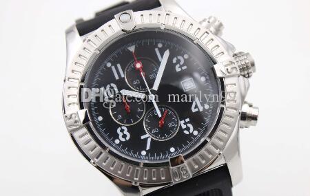 높은 품질 오래된 브랜드 남성은 보복 시리즈 A1338012 / F548 (다이버 프로 깊은 잠재 고무 스트랩) 쿼츠 크로노 그래프 시계 다이빙 시계를보고