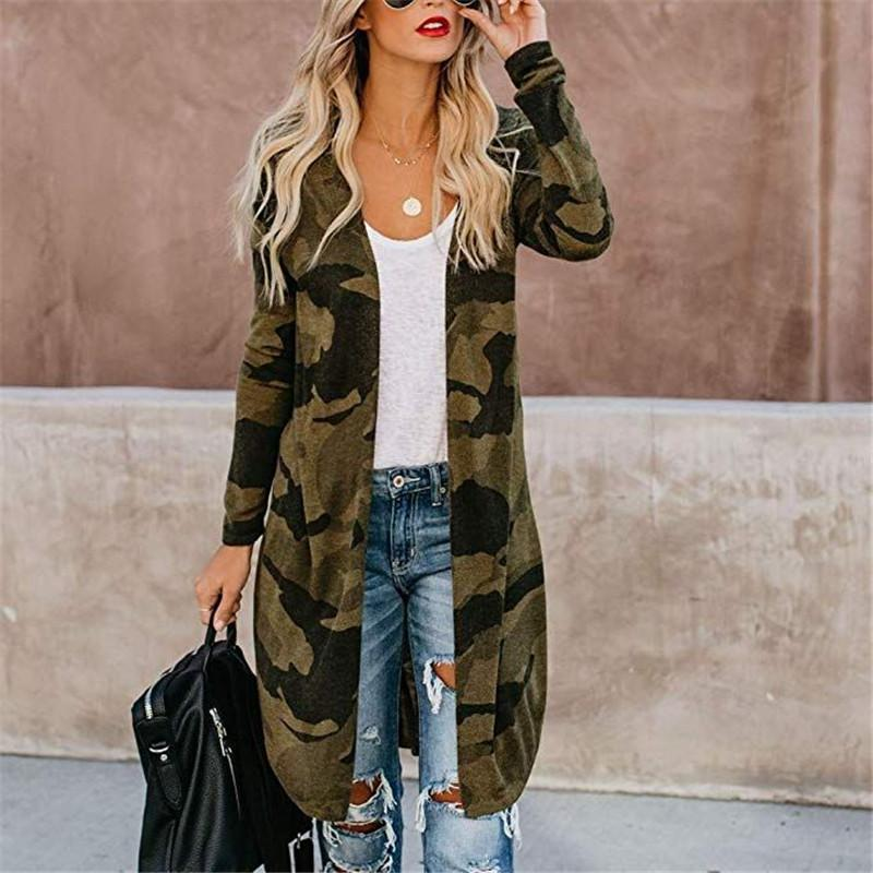 Womens Designer Leopard Long Coat Spring Loose Thin Cardigan Trench Coats Fashion Contrast Color Female Clothing