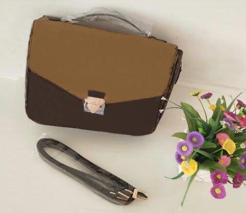 Freie Verschiffen Qualitäts-Reißverschluss Totes Beutelfrauen Brown Nachricht Handtasche Pochette Metis Schulterbeutel crossbody Retro-Taschen
