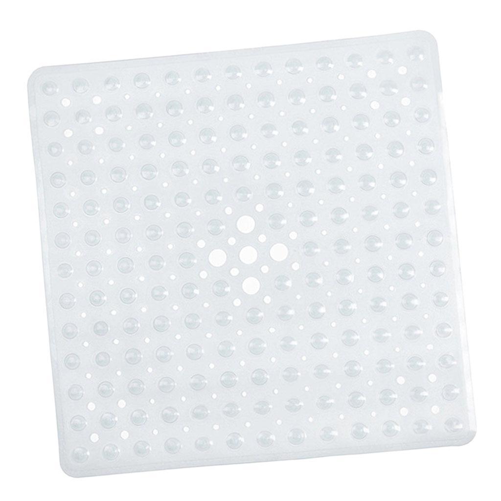 54x54cm Non Slip Bath Shower Mat with Drain Holes Mildew Resistant Home Bathroom