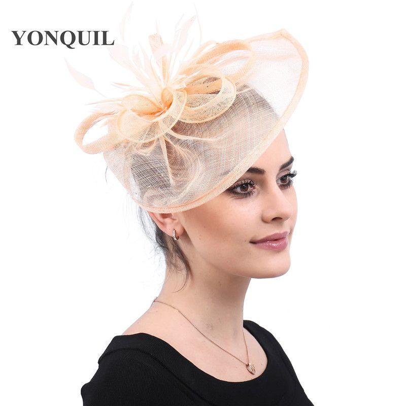 Frauen elegant Partei Fascinator Haarschmuck Haarspangen Und Federn Party Hat Lady Hochzeitsdeko Kopfbedeckung mit Haarclips freies Verschiffen