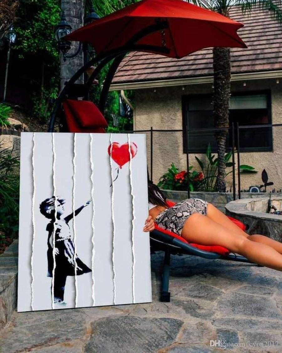 Free Shipping Original painting hand-painted popart banksy oil painting on canvas graffiti street art good for wedding decoration