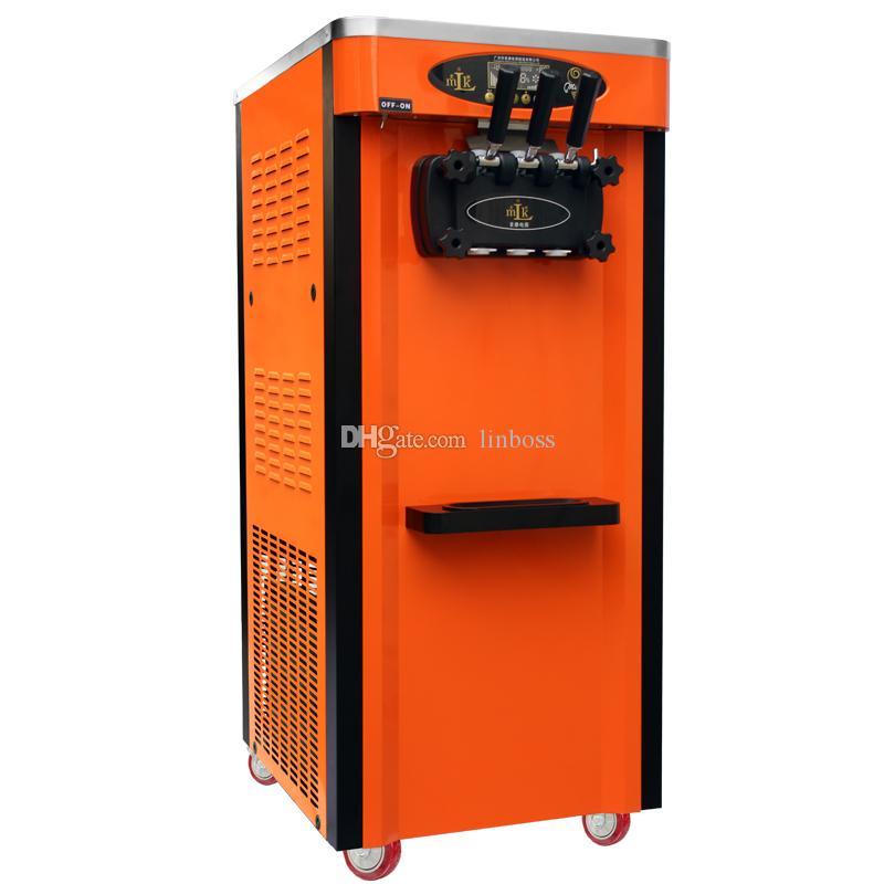 China máquina de proveedores barato comercial de helados suaves sirven / Yogurt Machine / CE certificada 3 sabor suave de hielo máquina de helados