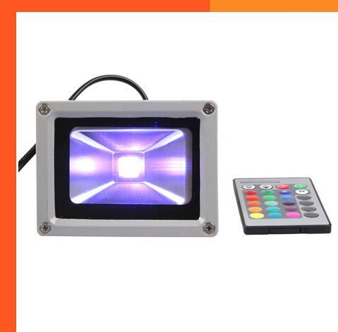 (10 шт. / Лот) AC12V 10 Вт 20 Вт 30 Вт 50 Вт RGB светодиодный прожектор изменяемого цвета светодиодный прожектор на открытом воздухе с дистанционным управлением