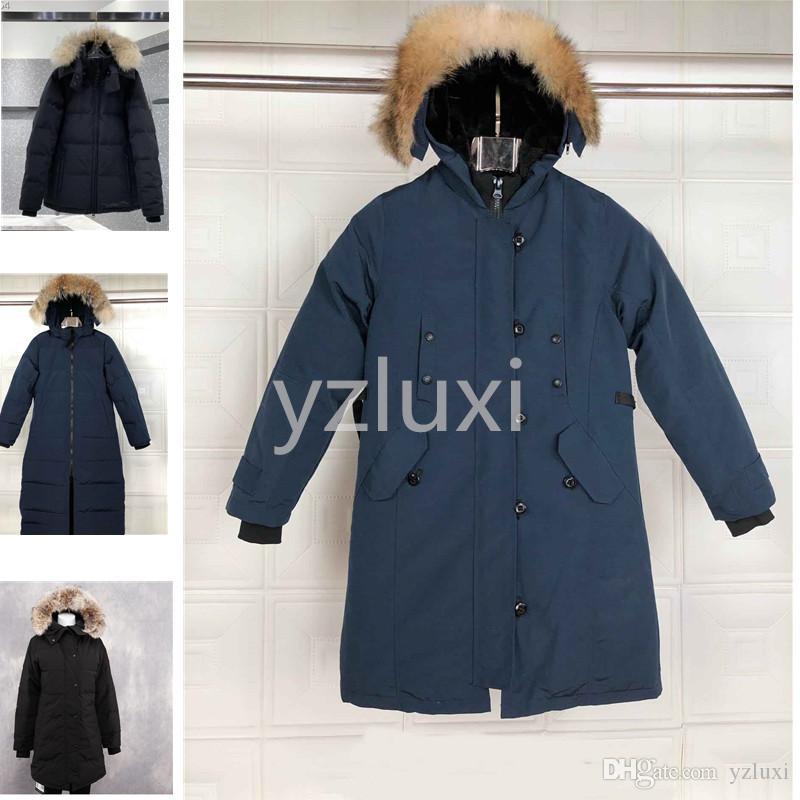 Женская пуховая куртка вниз ветровки Real енот мехового воротника белой утки Верхней одежда пальто женщины мода пальто