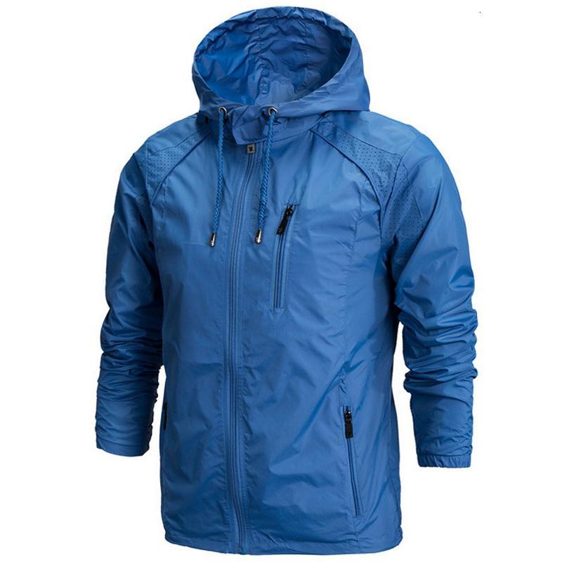 Primavera nuevos hombres Marca Ropa de deporte de los hombres de moda delgada de la cremallera rompevientos capas Outwear la chaqueta con capucha jaqueta masculino Y191104