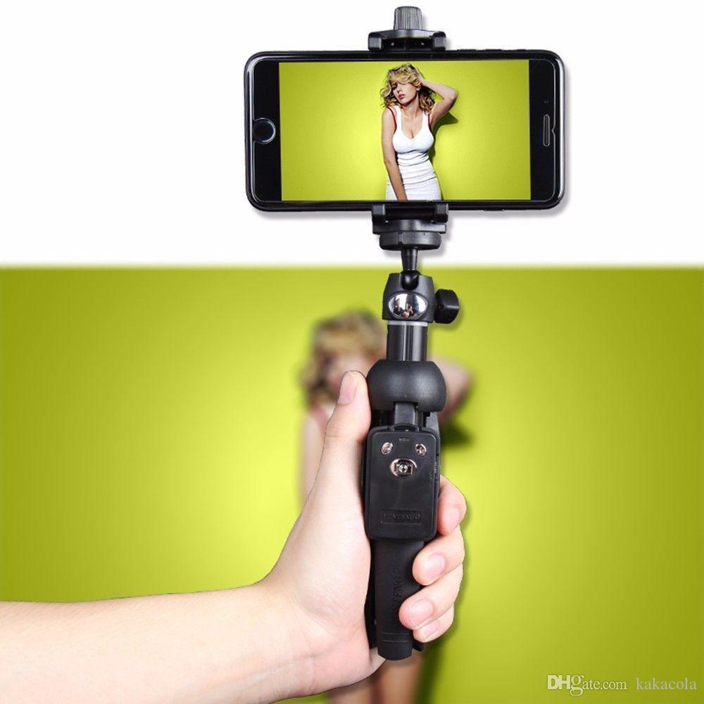 Original YUNTENG YT-9928 Wreless Selfie Stock-Stativ Bluetooth Remote Ausziehbare Einbeinstativ Halter Halterung Clip für iPhone 08.07 / X für Samsung