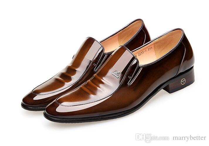 Leather men's shoes British business suit men's shoes Genuine Leather men dress wedding shoes for men d2a52
