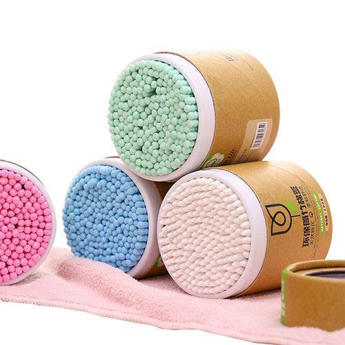 الخيزران القطن مسحة حديقة الخشب العصي الناعمة القطن البوازات تنظيف آذان tampons microbrush cotonete pampons الصحة الجمال 200 قطعة / الوحدة