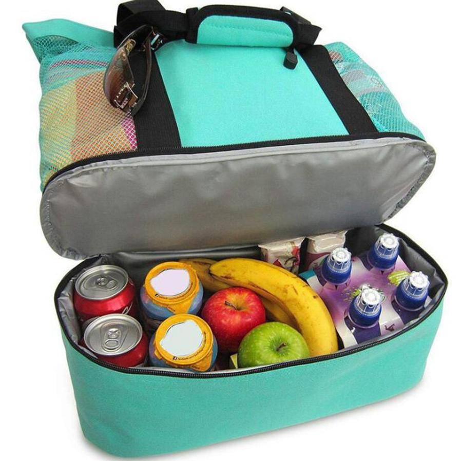 في الهواء الطلق نزهة حقيبة 4 ألوان شاطئ التخييم متعدد الوظائف سعة كبيرة حقائب الغداء المحمولة في الهواء الطلق حقيبة السفر OOA7472-3