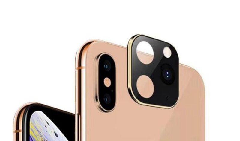 아이폰 (11) 프로 맥스 카메라 렌즈 화면 보호기 티타늄 합금 렌즈 울트라 씬 전체로 돌아 가기 하드 카메라 커버 럭셔리 블링 용 금속 카메라 필름
