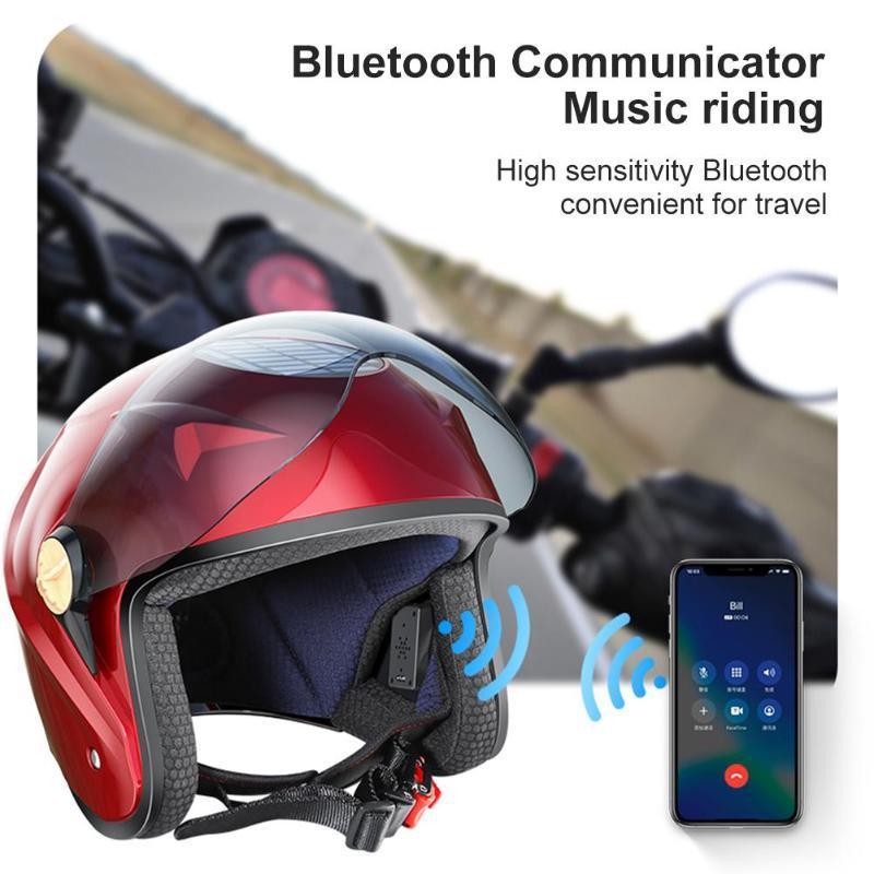 Energia solare intelligente Bluetooth Estate ventola di raffreddamento del casco del motociclo in bicicletta Cap