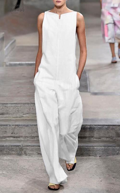 와이드 화이트 여성 2019 Elegants 다리 긴 바지 MONOS Largos Mujer Pantalon 라르고를 들어면 옷을 빌려 오프 숄더 점프 슈트