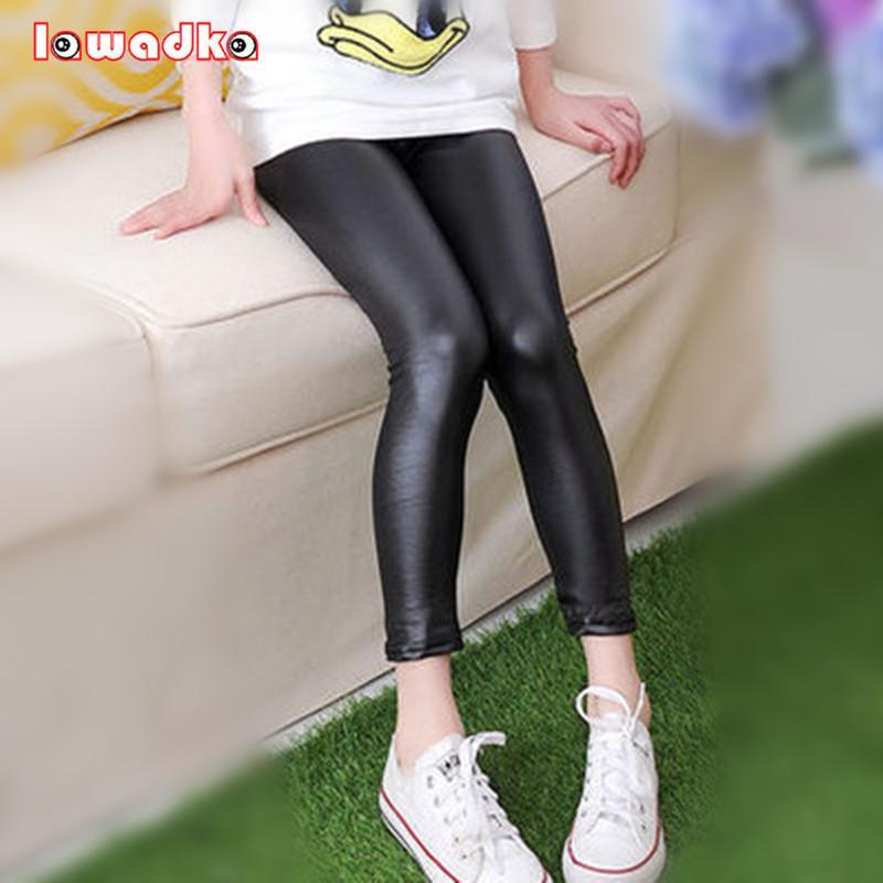 Compre Pantalones De Cuero Sintetico Para Ninas Finas Leggings De Moda Pantalones Para Ninos De Primavera A 5 63 Del Super003 Dhgate Com