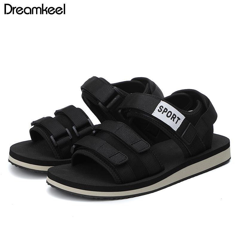 2019 Yaz Yerli Ayakkabı Sandales Homme Kamuflaj Spor Sandalet Man Roman Sandals Beach Man Sandalias Düz Ayakkabı Erkek Y
