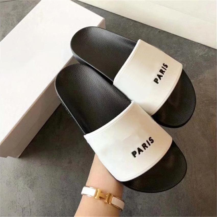 Tasarımcı terlik kutusu Ile moda Slayt sandalet terlik erkekler kadınlar Için sıcak tasarımcı Unisex Plaj Flip flop terlik en çok satan