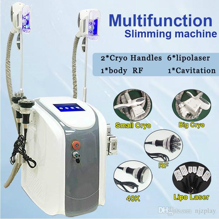 6 EM 1 máquina de cavitação em pé RF freqüência freqüência laser de rádio freqüência dispositivo vaccum emagrecimento aprovado pela CE