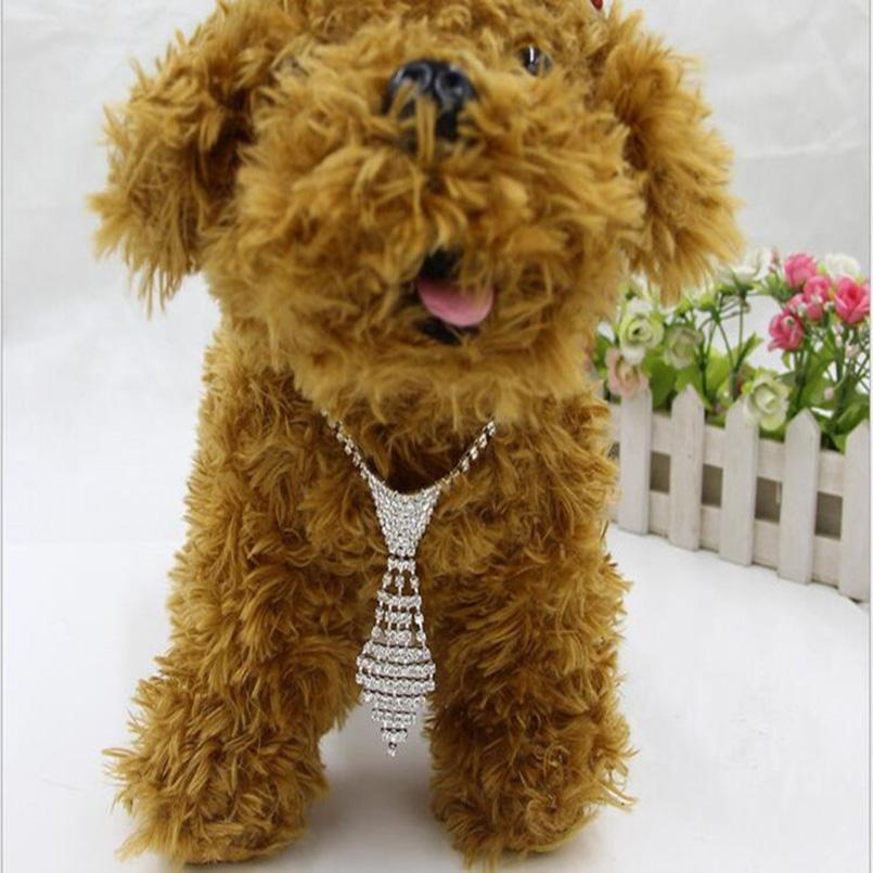 Bling Rhinestone Dog Collars Necktie Full Diamonds Dogs Accessories Necklace For All Dogs Collar For Dogs Cats Pets Products New