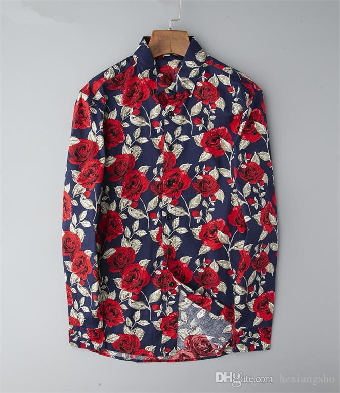 2019 marque chemise affaires de hommes occasionnels hommes, chemise rayée à manches longues, nouvelle association de la mode masculine, polo A15