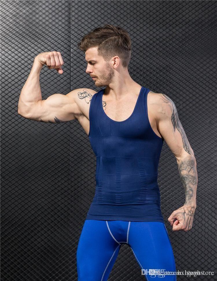 sports Hommes Gilet Hauts Hommes des citernes de culturisme Golds Gym Stringer Tank Top Sport Fitness Corset sport I-Vest Body-Shaping Gilet