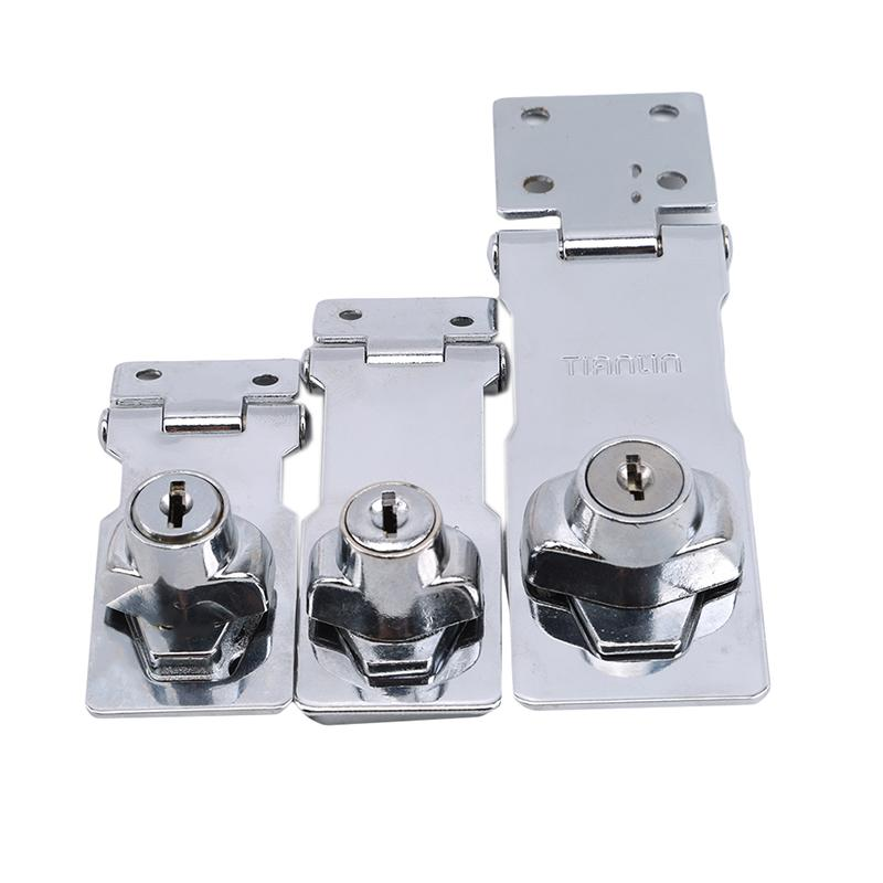 Hasp Lock Drawer Lock Closet Door Chrome Plated Metal Keyed Cabinet Latch Cupboard Desk Hasp Locks With Keys