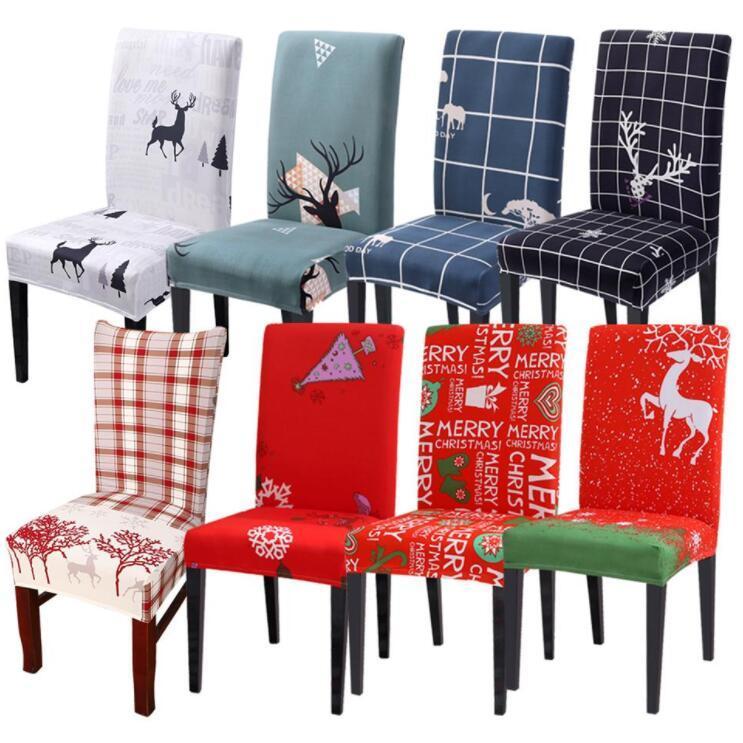 의자 커버 이동식 의자 커버 스트레치 식사 시트 커버 탄성 커버 크리스마스 연회 웨딩 장식 크리스마스 LXL776-1