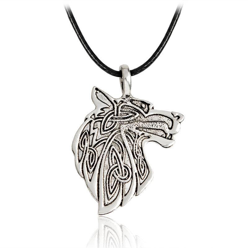 Норвежские викинги кулон ожерелье норвежский Волк голова ожерелье оригинальные украшения для животных волк голова hange