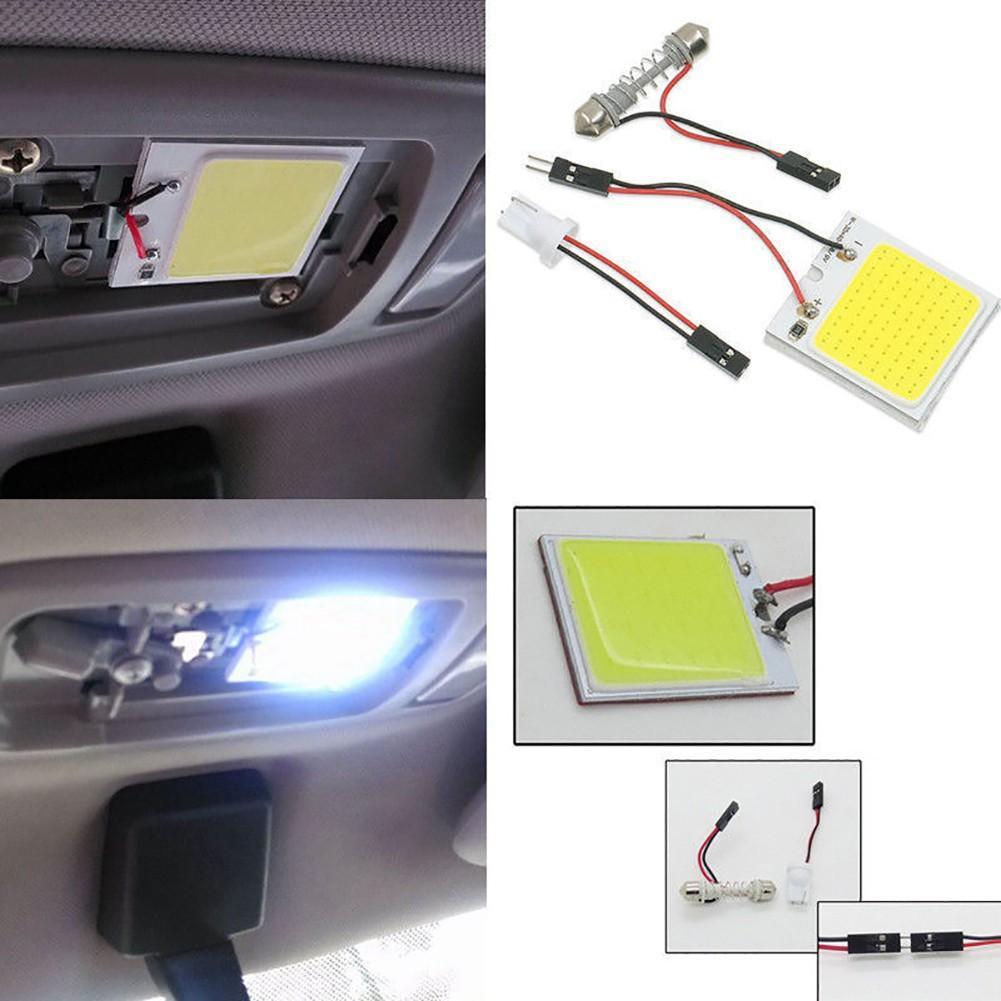 1 Piece White 24 36 48 SMD COB LED T10 4W 12V Car Interior Panel Light Dome Lamp Bulb