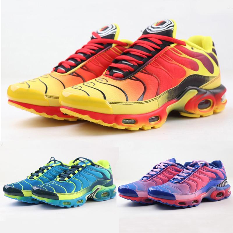 2020 New Tn plus Hommes Chaussures de course Vert Jaune Rouge Tns TN Plus Ultra Sports Chaussures pas cher TNS Fashion Réquin Casual Chaussures de sport Chaussures