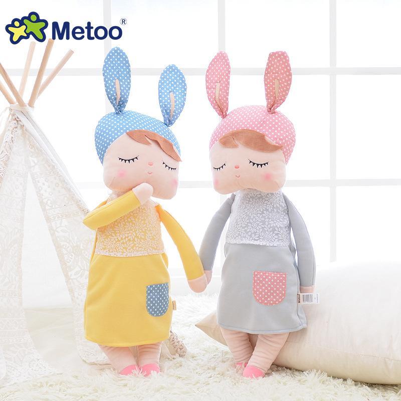 13 Inch Plush Stuffed Animal Cartoon Kids Toys for Girls Children Baby Birthday Christmas Gift Kawaii Angela Rabbit Metoo Doll CJ191212