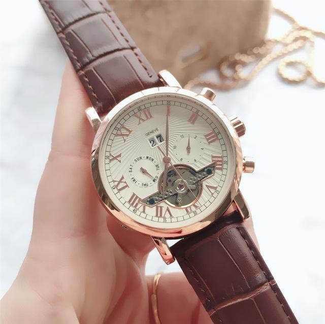 Yüksek Kaliteli Marka erkekler erkek rejoles için tüm alt kadranları iş izle Faz Daydate mekanik otomatik wristwatche saatler