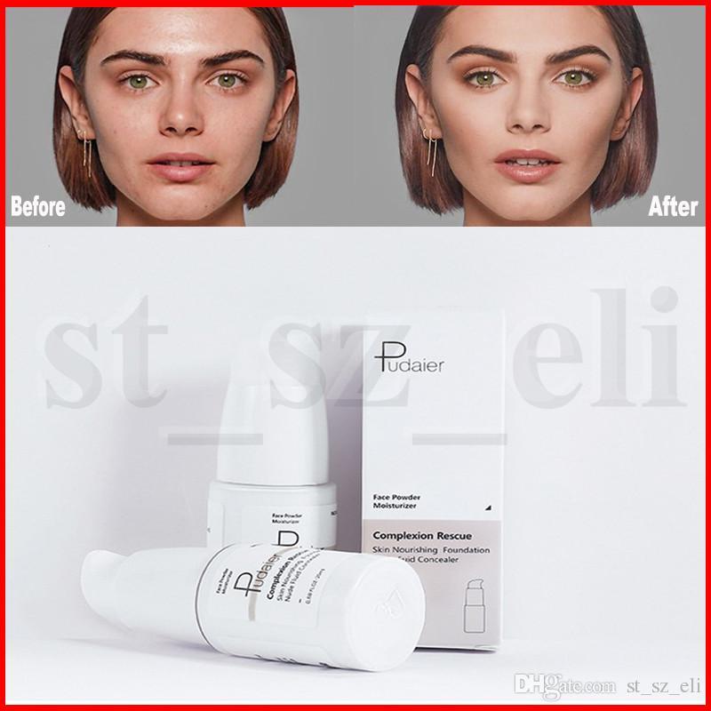 Pudaier Cor Maquiagem Pele Temperatura Mudando líquido Foundation Complexion Resgate Nude fuid Concealer Face Powder Moisturizer