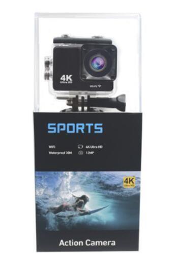 K5G Eylem Kamera PK SJ4000 30M Su geçirmez HD 4K Spor Kamera 2.0 inç LCD Ekran 140 derece görüş açılı Lens Açık Kamera 1pcs