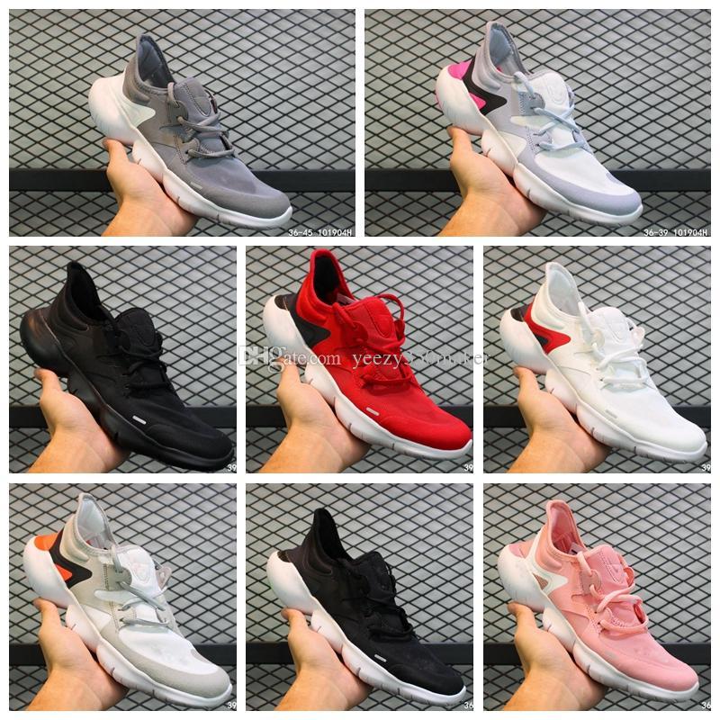 2019 macio Wmns gratuito Rn 5,0 Shoes correr descalço ultra-elásticas sola ultra-leves esportes respirável tênis com superfície de malha