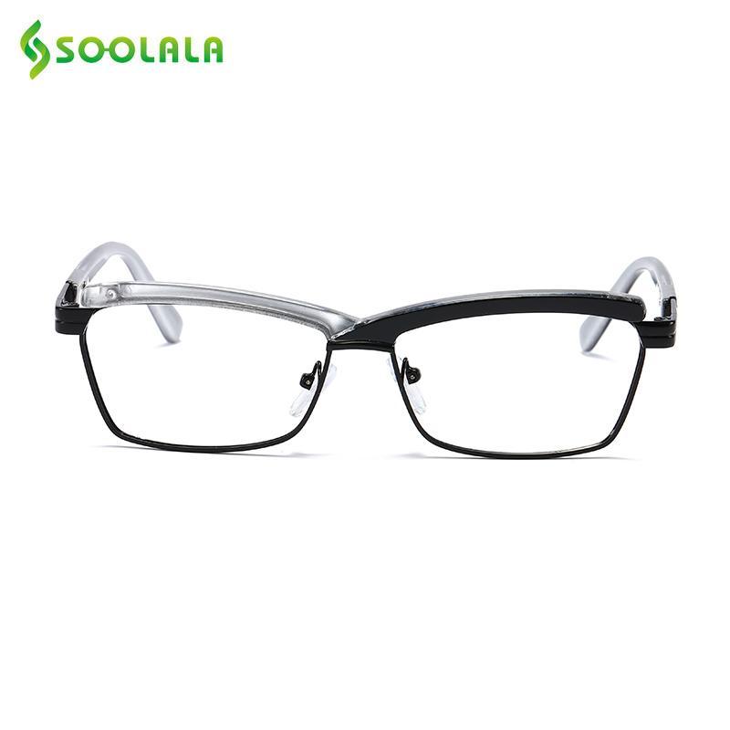 SOOLALA Çapraz Hit Renk yarım çerçeve okuma gözlükleri Kadın Erkek gözlükler Presbiyopinin okuma gözlükleri 0,5 0,75 1.0 1.25 1,5-5,0