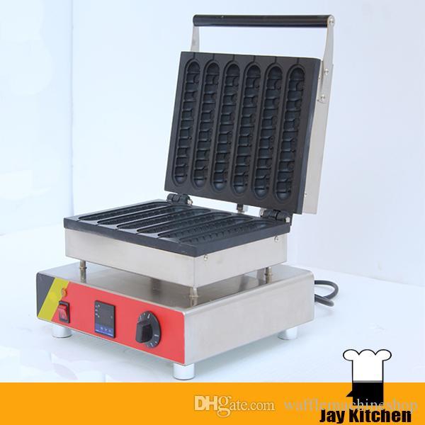 Ticari Dijital Waffle Stick Maker Waffle Köpek Makinesi Sosisli Köpek Makinesi Fransız Muffin Sosisli Köpek Makinesi