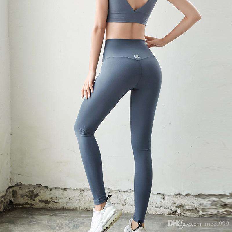 Yüksek elastikiyet Sızdırmazlık Kadınlar Yoga Pantolon Yüksek Bel Spor Salonu Giyim Tozluklar Elastik Spor Pantolon Bayanlar eşofman Tayt Egzersiz