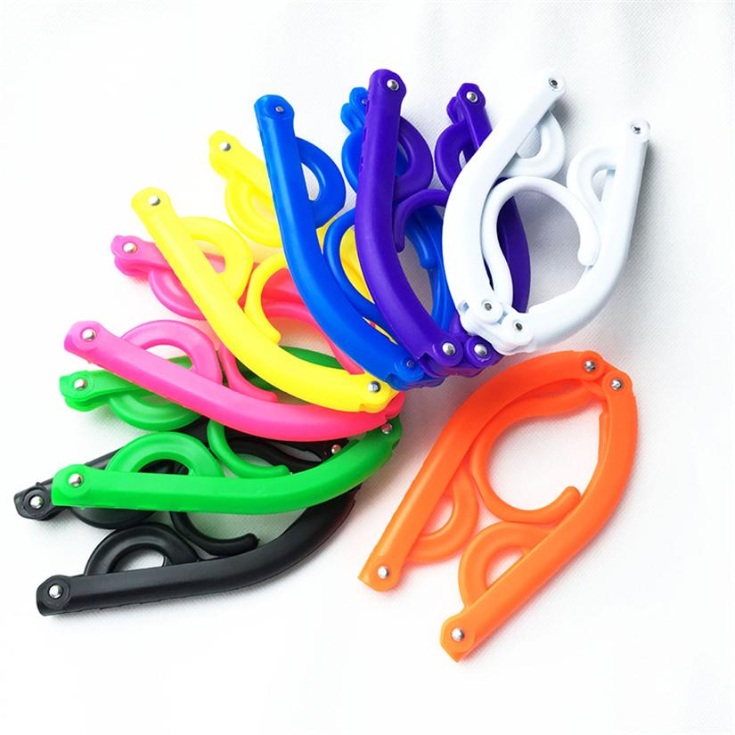 Folding Plastic Hangers Hooks For Clothes Towel Organizer Portable Travel Hanger Easy Carring Hanger Storage Rack