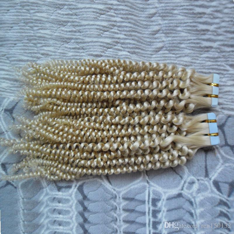Loose Wave Skin weft hair extensions 40pcs/100g European Virgin Human Hair Extensions Color #1 #2 #4 #6 #8 #27 #30 #613 PU Tape Hair