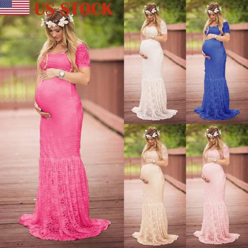 SO-buts Women Summer Photography Photo Props Fancy Popular Tulle Long Maxi Gown Pregnancy Maternity Dress