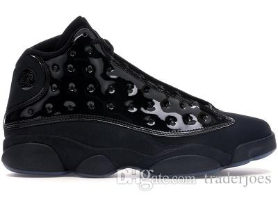 Kutu ile 2019 Yeni Erkek Ve Bayan Basketbol Ayakkabı Sneakers Erkekler ve Kadınlar için 13 S Siyah Kedi Chicago Kırmızı Kap ve cüppe Yüksek