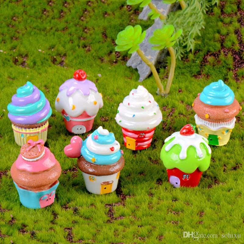 2020 Cupcake House Ice Cream Castle Dollhouse Resin Crafts