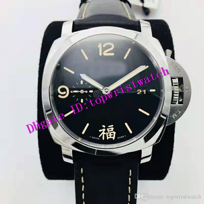 Hombres VS Pam498 de lujo del reloj del reloj del deporte Pam00498 P.9000 automática zafiro mecánico Súper luminoso impermeable del acero inoxidable Reloj de pulsera