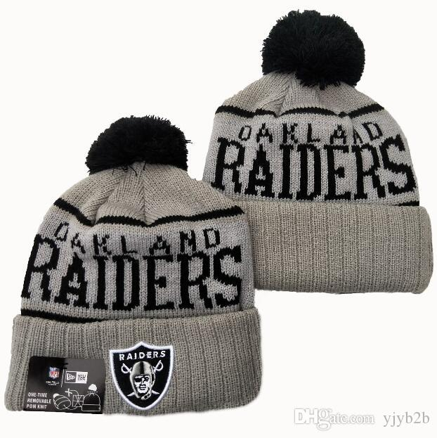 2020 HOT Brand Fashion Raider Gray Color Sport All Team Hip Hop Beanie Hats 100th Men's One Size Soft Warm Skull Caps Knitted Casual Beanies