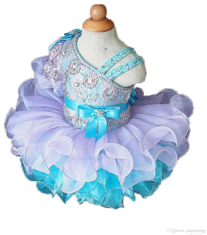 Küçük Kızlar Doğum Günü Partisi Pageant Kek Elbise Toddler Tek Kollu Dantel Süpürgelik Kısa Mini Çocuklar Resmi Giyer