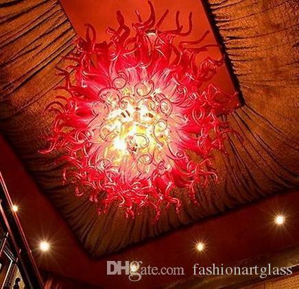 Europäischer Typ geblasenem Glas Kronleuchter Moderne LED-Lichtquelle Chihuly-Art-Kunst-Dekor-Glas Material Beleuchtung