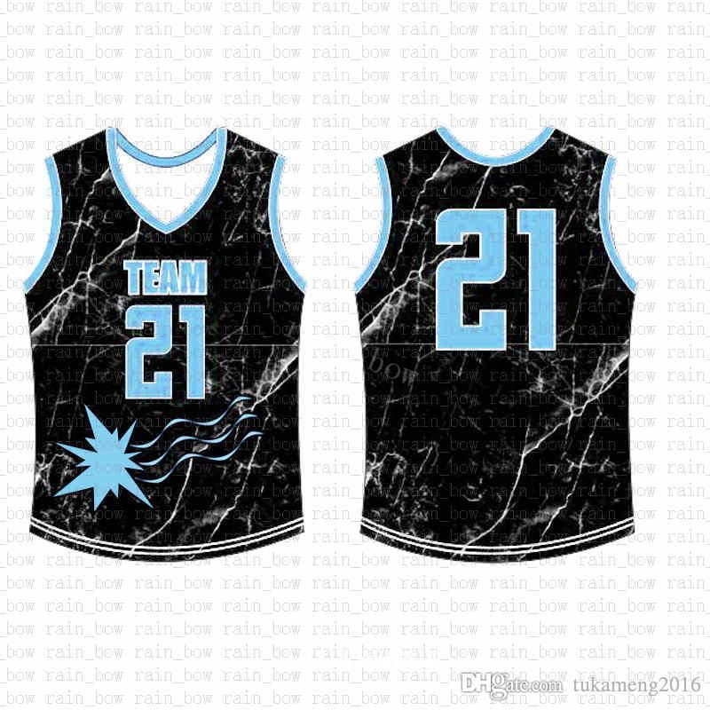 2019 الجديدة مخصصة لكرة السلة جيرسي جودة عالية رجالي التطريز الشحن المجاني شعارات أعلى بنسبة 100٪ خياطة sale0151