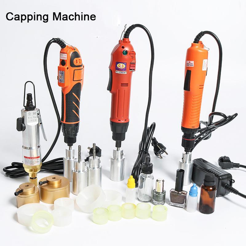 Livre navio Via DHL Opcional Mix Up tampando máquina portátil elétrico automático Com Segurança Anel Bottle Capper