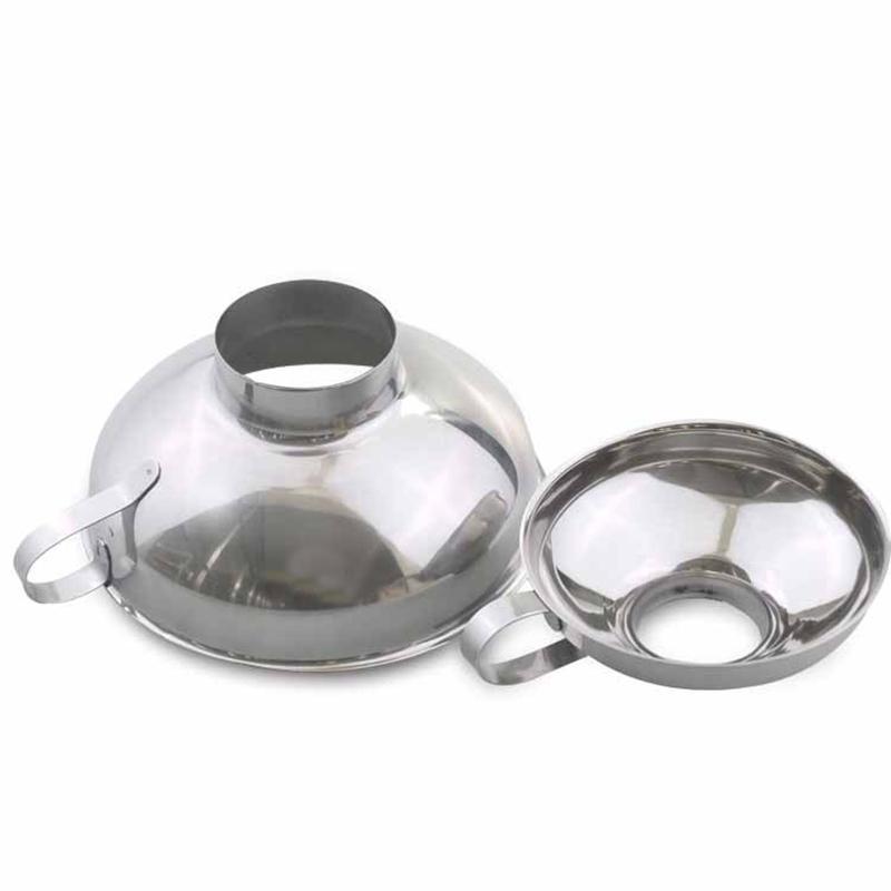 2 Stück Set Trichter für Weit und regelmäßige Gläser Nützlicher Edelstahl breite Mund Canning Trichter große Mund-Trichter für Bohnen Saucen